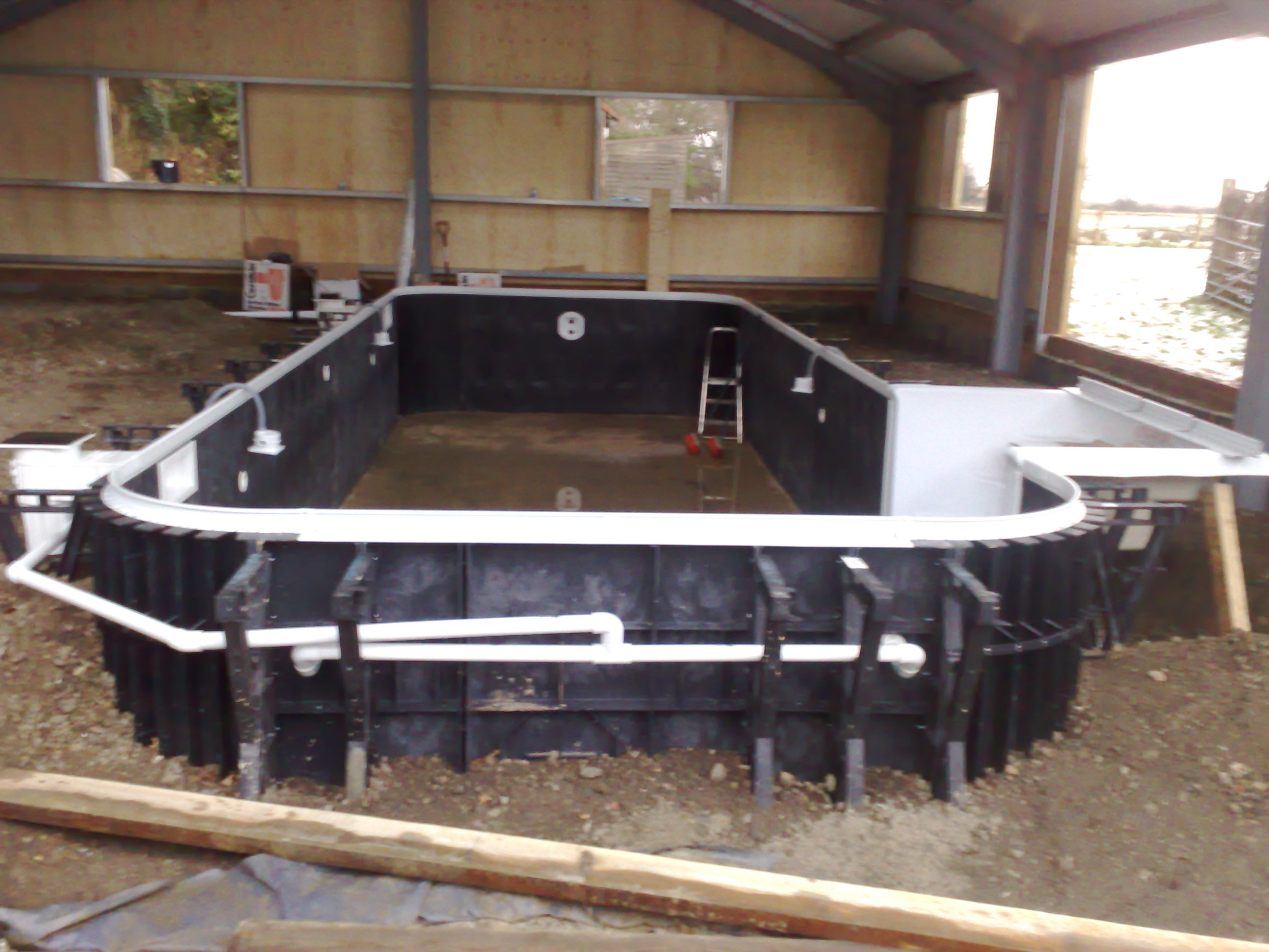 Kafko Polymer Panel swimming pool under construction