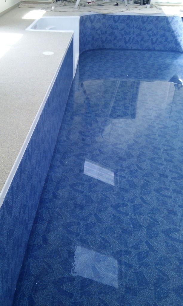 Kafko Polymer panel swimming pool wall and step