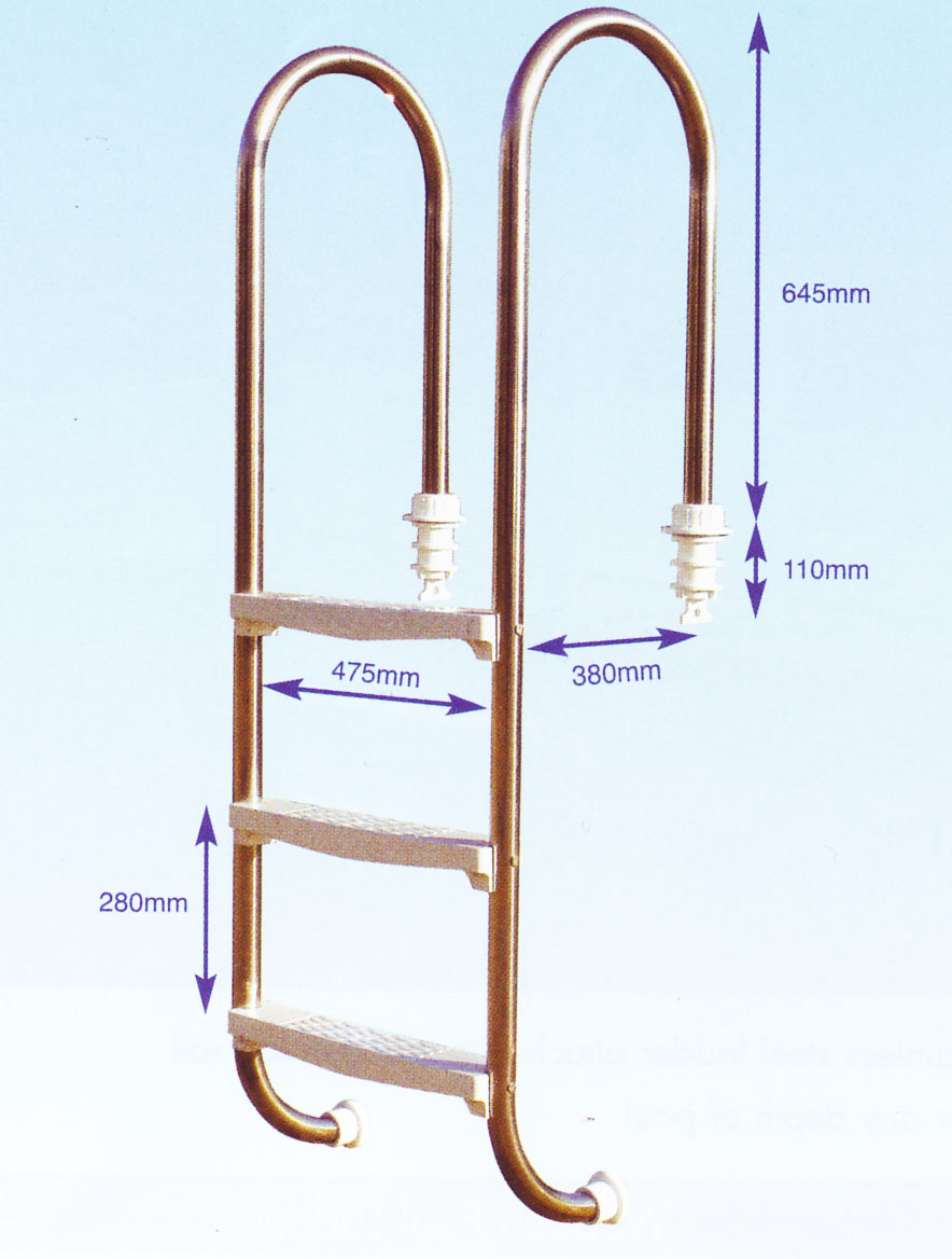 Swimming pool ladder - slimline