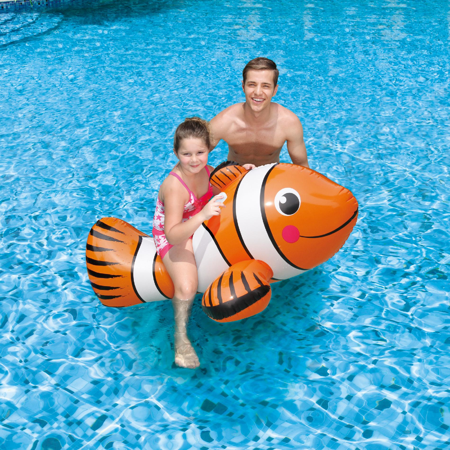 Clown fish ride on for Accessoires piscine intex