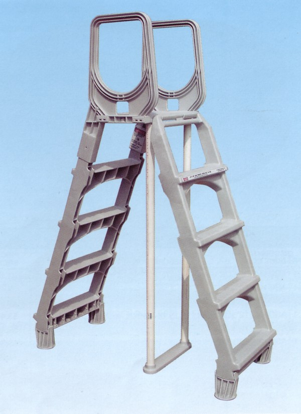 A Frame Adjustable 48in 52in Resin Ladders