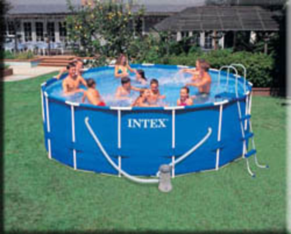 Shirlene grinnell 39 s blog intex metal frame swimming pools - Steel frame pool ...