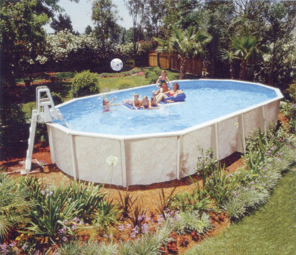 Above ground pool installation instructions oval the for Above ground pool installation
