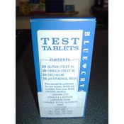 Blue Crystal Test Tablets