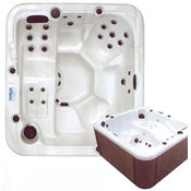 Square Hot Tub for 5 people in Silver Marble
