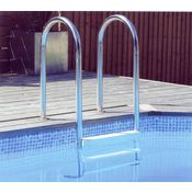 Wooden pool deck ladder