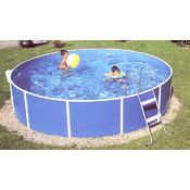"Round Steel Wall Mountfield 12' x 36"" Splasher pool"