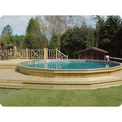 Folkpool Deep Sapphire Timber Swimming Pool