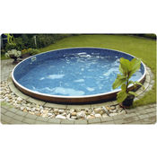 Round steel walled deeper splasher swimming pool