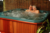 MATURE COUPLE IN THE SPA