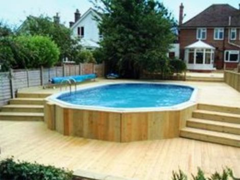 Swimming pools in ground pools above ground pools from for Above ground swimming pools uk