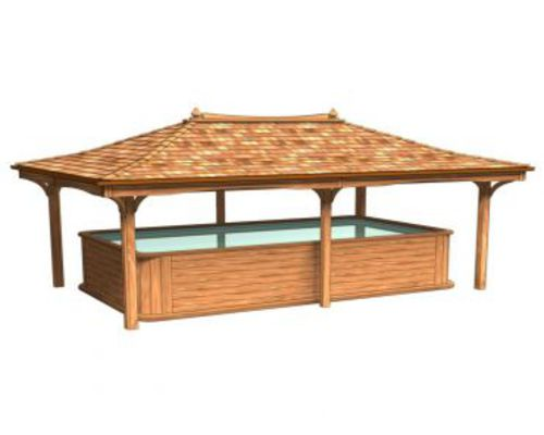 3m x 5m Basic Atlantic Cedar Hot Tub Lodge