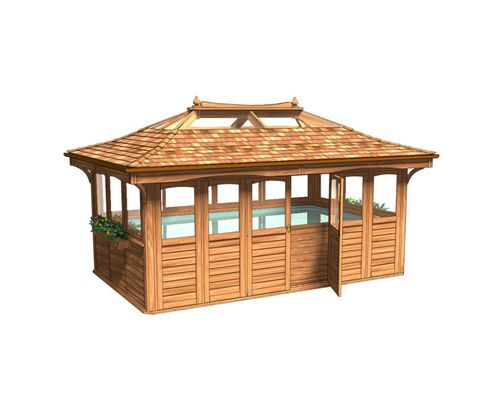 3m x 5m Superior Rectangular Cedar Lodge