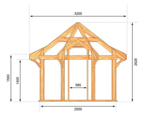 Cedar Cottage 2.5m Dimensions