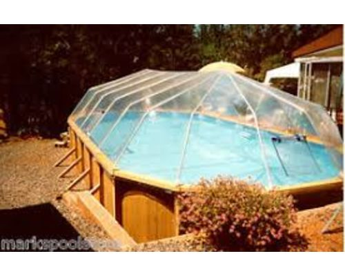 Fabrico Dome for Above Ground Timber Oval Pool