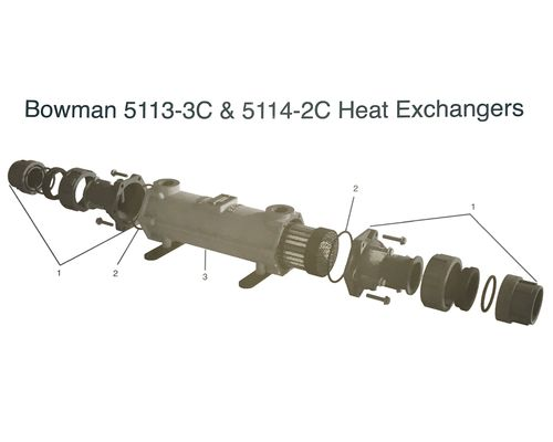Bowman 5113   5114 Heat Exchanger Parts