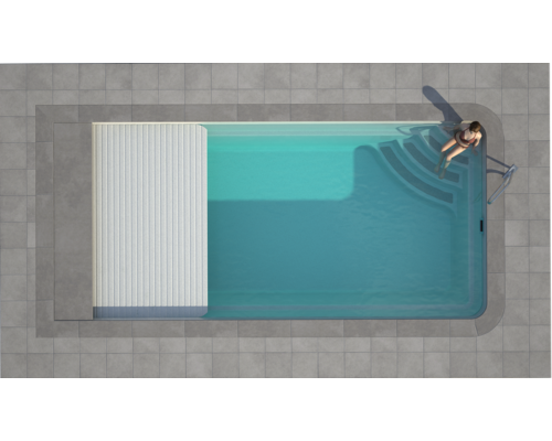 Luxe Pools - Lugano slatted Cover