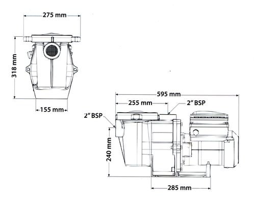 Intelliflo pump dimensions