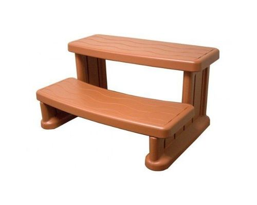 Cover Valet Spa Side Step   Redwood