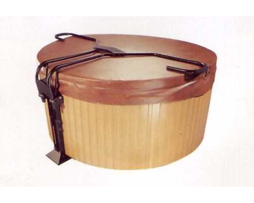 spa rigid cover caddy for round hot tubs