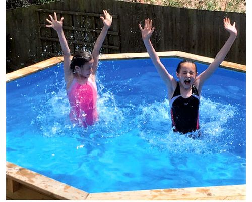 Fun in the Eco Wooden Pool