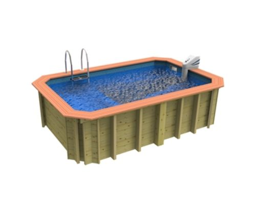 Wooden exercise pool
