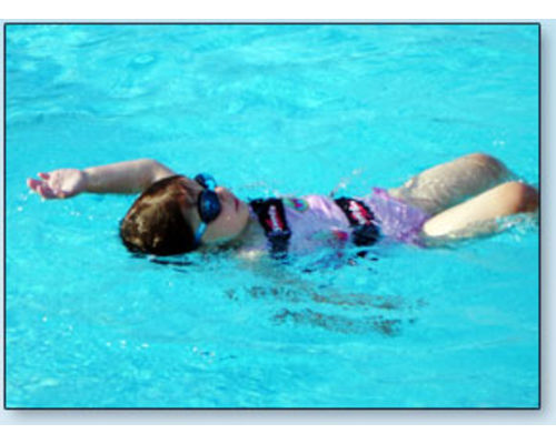 Back Stroke using Swim Fin