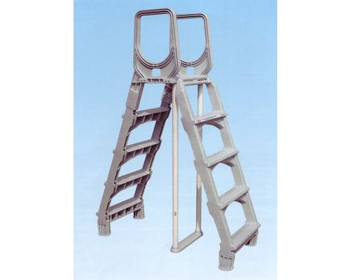 Grey moulded Swing up safety Ladder