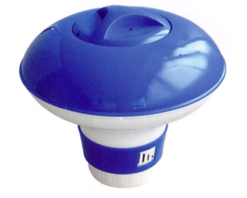 floating chemical dispenser for swimming pools