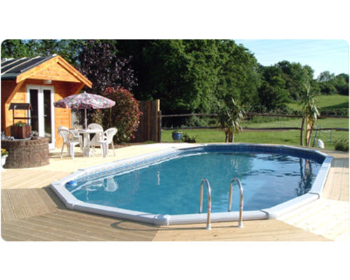 30ft x 15ft 'Classic' Aluminium Swimming Pool with timber decking