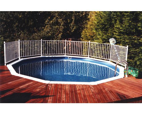 15ft 'Classic' Aluminium Pool  with surface level deck and Aluminium safety fence
