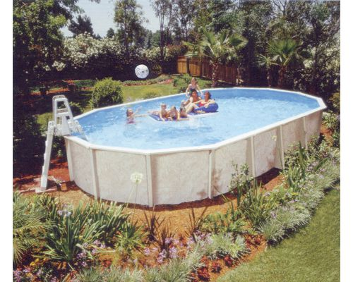 Doughboy regent steel resin swimming pool for Resin above ground swimming pools