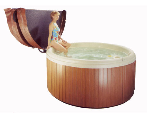 hot tub rigid cover caddy for round spas - covermate freestyle 2