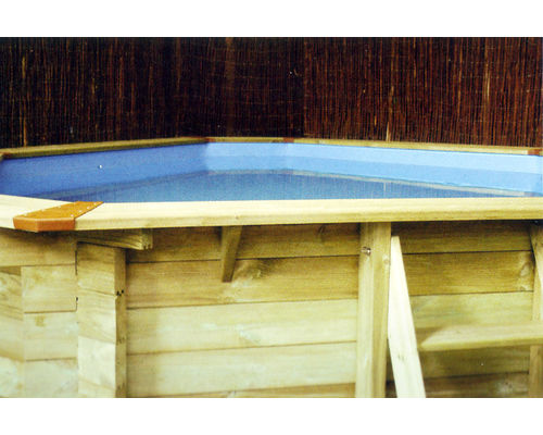 Corner Wooden Swimming Pool
