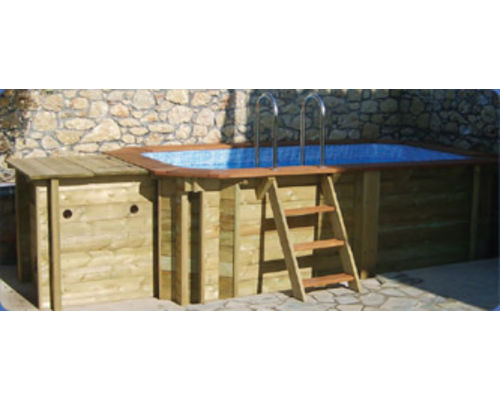 Plastica Wooden Pool Plant Enclosure
