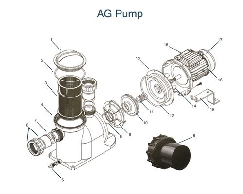 AG Pump Spares Diagram