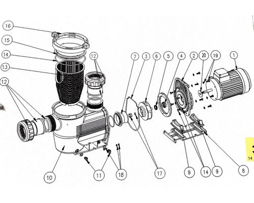 Hydrostar Pump Spares diagram 19