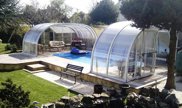 Enclosure and Kafko pool in beautiful landscaped garden