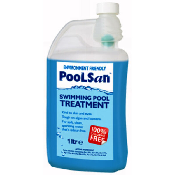 1 Ltr PoolSan 100% Chlorine free water treatment